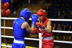 Orenburg, Russia - January 21, 2017 year : Boys boxers compete Stock Images