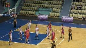 Orenburg, Russia - 13-16 June 2019 year: Men play basketball stock video