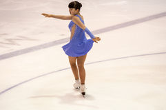 Orenburg   Russia - 26 March 2016: Competitions girls figure skater. Stock Image