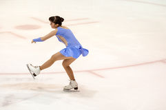 Orenburg   Russia - 26 March 2016: Competitions girls figure skater. Stock Images