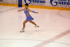 Orenburg   Russia - 26 March 2016: Competitions girls figure skater. Royalty Free Stock Images