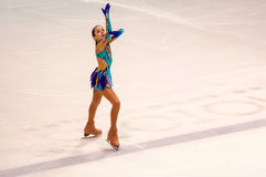 Orenburg   Russia - 26 March 2016: Competitions girls figure skater. Stock Photography