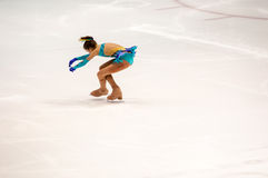 Orenburg   Russia - 26 March 2016: Competitions girls figure skater. Royalty Free Stock Image