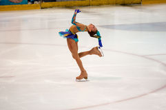 Orenburg   Russia - 26 March 2016: Competitions girls figure skater. Stock Photo