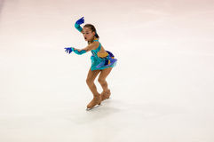 Orenburg   Russia - 26 March 2016: Competitions girls figure skater. Stock Photos