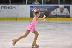Orenburg, Russia - March 25, 2017 year: Girls compete in figure skating Stock Images