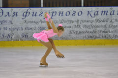 Orenburg, Russia - March 25, 2017 year: Girls compete in figure skating Stock Photos