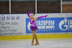 Orenburg, Russia - March 25, 2017 year: Girls compete in figure skating Stock Image