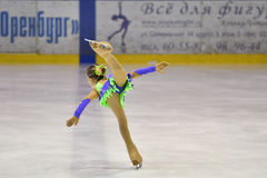 Orenburg, Russia - March 25, 2017 year: Girls compete in figure skating Stock Photography