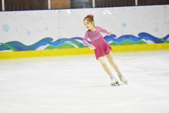 Orenburg, Russia - March 31, 2018 year: Girls compete in figure skating Stock Photography