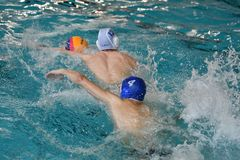 Free Orenburg, Russia - May 4, 2017 Years: The Boys Play In Water Polo Royalty Free Stock Images - 125612579