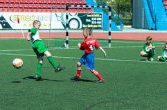 Orenburg, Russia - 31 May 2015: The boys play football Stock Photography