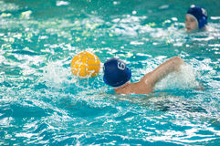 Orenburg, Russia - 6 May 2015: The boys play in water polo Stock Images