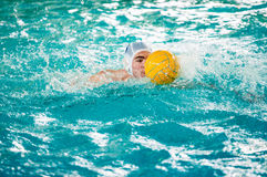 Orenburg, Russia - 6 May 2015: The boys play in water polo Royalty Free Stock Image
