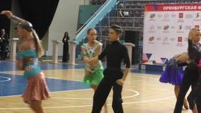 Orenburg, Russia - May 25, 2019: Girl and boy dancing. stock footage