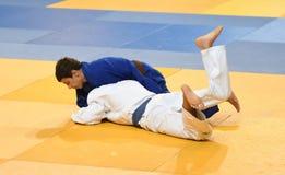 Orenburg, Russia - 21 October 2016: Boys compete in Judo Stock Image
