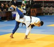 Orenburg, Russia - 21 October 2016: Boys compete in Judo Stock Images
