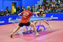 Free Orenburg, Russia - September 28, 2017 Years: Boy Compete In The Game Table Tennis Stock Image - 104151601