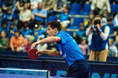 Orenburg, Russia - 03.04.2015: Table tennis competitions Royalty Free Stock Photo