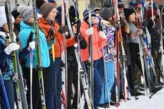 Orenburg, Russland - 26. Januar 2017 Jahr: Studentenspiel in den Winterspielen Lizenzfreies Stockfoto