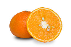 Orenge. Two pipe oranges. Isolated with small shadow stock image