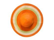 Orenge floppy hat isolated white background Royalty Free Stock Image
