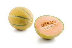 Orenge melon Stock Photos