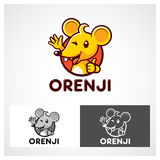 Orenji Mouse Symbol Stock Photo