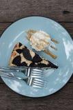 Oreo Cheesecake Creamy cheesecake with chocolate chip cookies. stock image