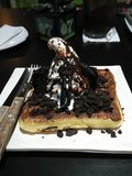Oreo ice cream waffle Stock Photos