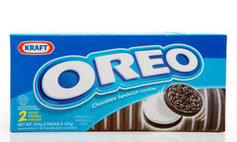 Oreo Schokoladen-Biskuite Lizenzfreies Stockfoto