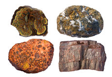 Ores of zinc and lead (upper left), copper (upper  Stock Photo