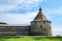 Oreshek forteca w Leningrad regionie na wyspie fotografia royalty free