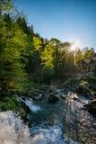 Orest на водопаде Canyanka Стоковое Изображение RF