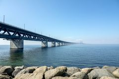 Oresund桥梁 免版税库存图片