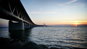 oresund Швеция моста сток-видео