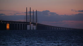 Oresund Brücke stock video footage