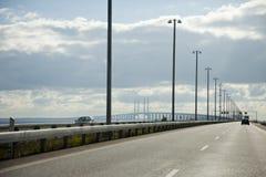 Oresund Bridge. Bridge between Malmoe and Copenhagen, oresund link Royalty Free Stock Photo