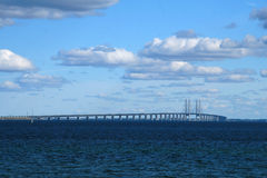 Oresund bridge. Bridge between Copenhagen and Malmo stock image