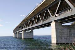 Oresund Bridge 5. Oresund Bridge, Connection for Motorway and Railroad between Sweden and Denmark stock image