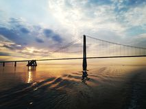 Oresund bridge royalty free stock photo