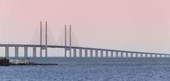 Oresund Bridge of Copenhagen2 Royalty Free Stock Photography