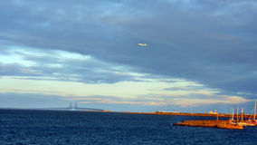 Oresund Bridge from Copenhagen Stock Photo