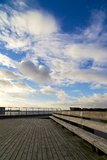 Oresund Bridge from Deck Royalty Free Stock Photography