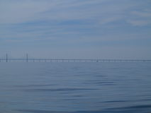 The Oresund  bridge between Denmark and Sweden Royalty Free Stock Photography