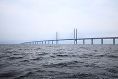 The Oresund  bridge between Denmark and Sweden Royalty Free Stock Photos