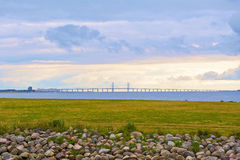 Oresund bridge. Landscape of the Oresund bridge Stock Photo