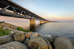 The Oresund Bridge,Malamo, Sweden Stock Photos
