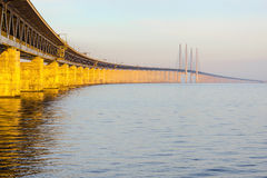 The Oresund Bridge,Malamo, Sweden Royalty Free Stock Images