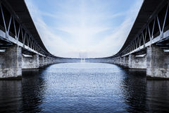 The Oresund Bridge,oresunds bron abstract Royalty Free Stock Photos